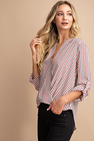 So Sophisticated Surplice Top