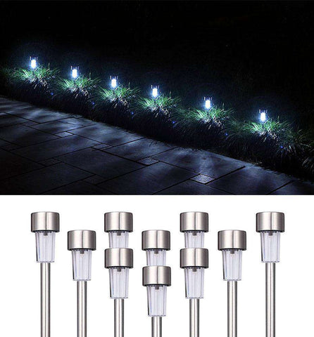 10 PC Solar Pathway Lights