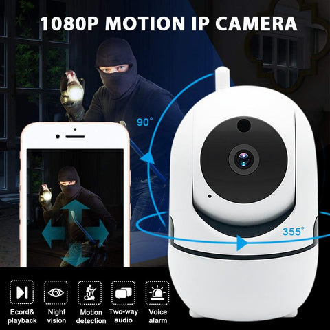 1080P HD Wifi Wireless Home Security IP Camera (360 Degree Horizontal + 90 Degree Vertical Pan + Night Vision)