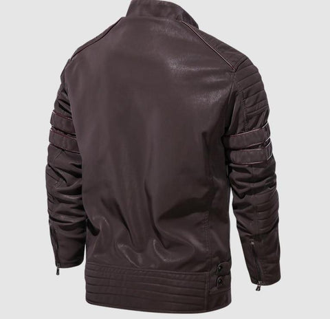 Amato Men Leather Jacket