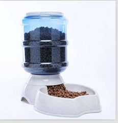 Automatic Dog/Cat Food + Water Feeder