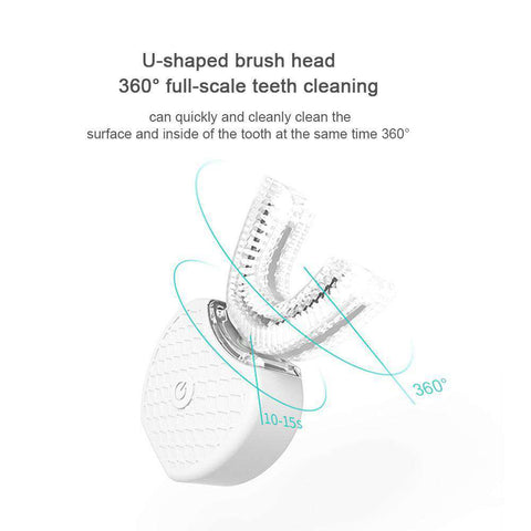 Automatic Teeth Whitening Tooth Brush (360 Degree 3-D Ultrasonic Cleaning + Cold Light Whitening)