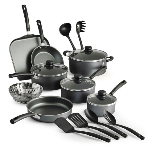 Best 18 Piece Complete Cookware Set Non-Stick Pan