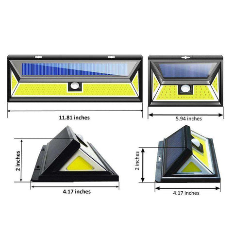 Best Solar LED Wall Light (Super Bright Up To 180 COB LEDs)