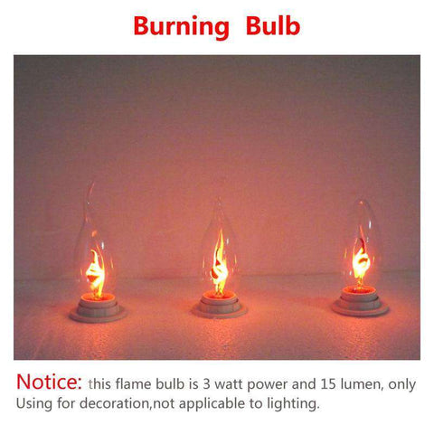 Burning Flame Light Bulb