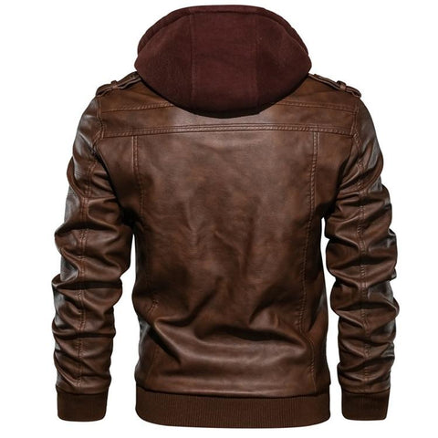 Calvino Men Leather Jacket
