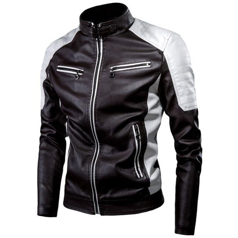 Carlo Men Motorcycle Leather Jacket