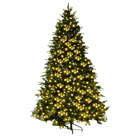 Douglass Fir 7.5 Ft Pre-Lit Artificial Christmas Tree Hinged With LED Lights