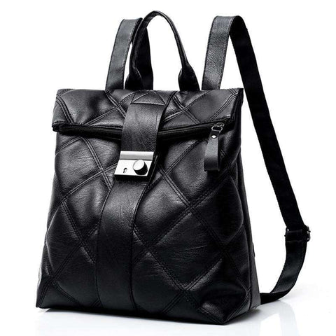 Girl's High Quality Leather Backpack