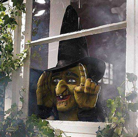 Halloween Scary Window Tapping Witch