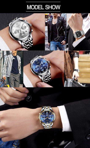 Mens's LIGE Luxury Watch