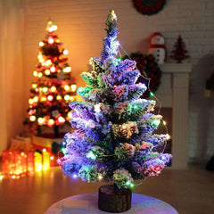 Mini Christmas Flocking LED Snow Tree