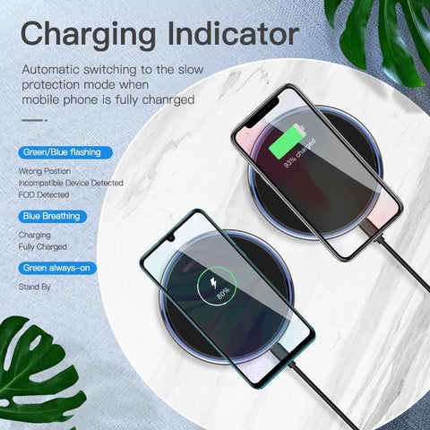 MobiCharge Wireless Phone Charger For Samsung Galaxy S9 S8 Plus, IPhone XS MAX XR 8Plus Phone)