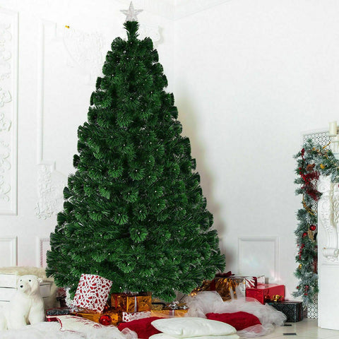 Norway Spruce 7 Ft Fibre Optic Artificial Christmas Tree 1400 Branches