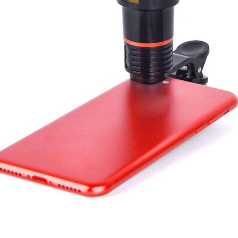 Portable Clip-on 12x Zoom Mobile Phone Telescope Lens HD Telescope Camera Lens For Universal Mobile Phone For Iphone Samsung