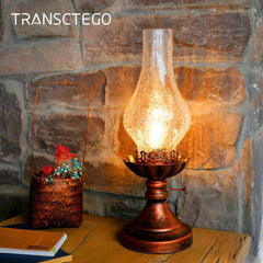 Retro Style Desk Oil Lamp Light