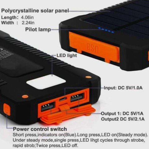 Solar Battery Charger Power Bank
