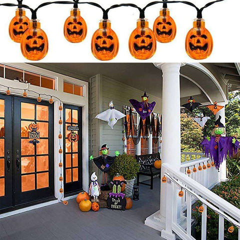 Solar LED Pumpkin Halloween String Lights