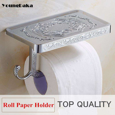 Toilet Paper Roll Holder Shelf