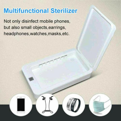 UV Light Sanitizer Box (Disinfects Cell Phones, Masks, Tooth Brushes, Ear Phones, Etc)
