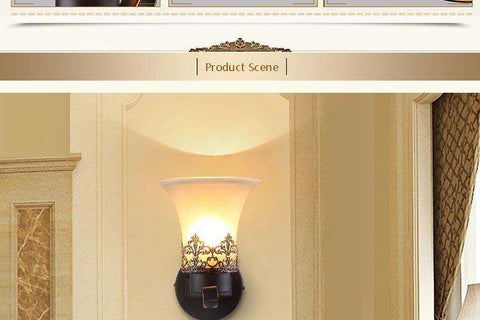 Vintage Wall Lamp Sconce (Perfect For Flame Light Bulbs)