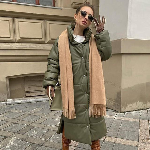 Violetta Women Khaki Long Coat