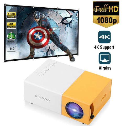 World's BEST Mini LCD Projector (Enjoy Hollywood Movies & Sports Any Where In Or Out)