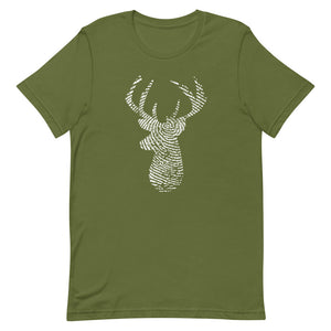 Deer Imprint Graphic T-Shirt