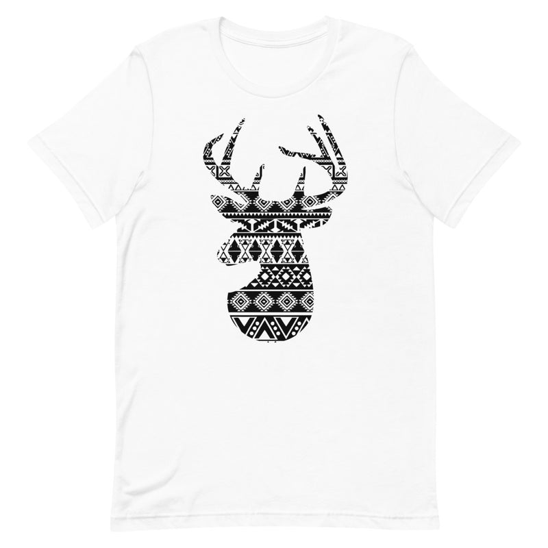 Deer Patterned Graphic T-Shirt