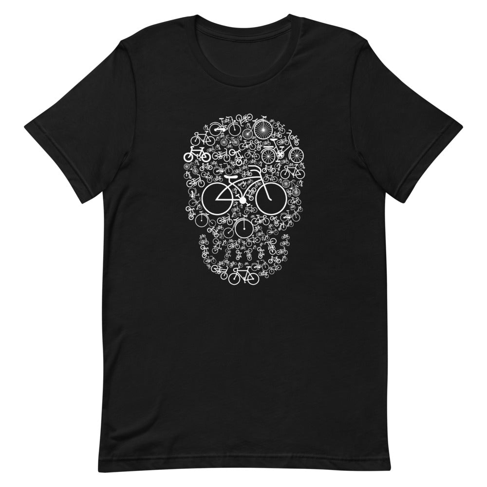 Bicylce Skull Men's Novelty T-Shirt