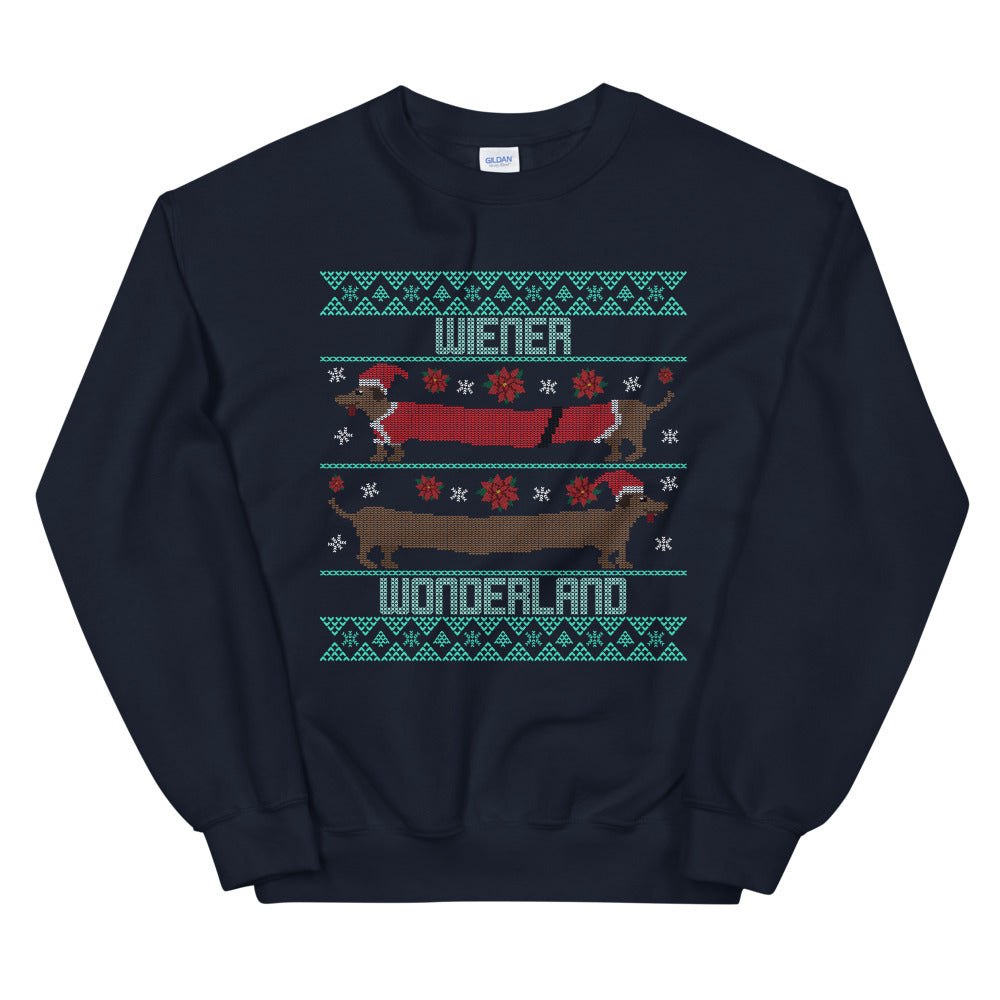 Wiener Dog Wonderland Holiday Sweatshirt