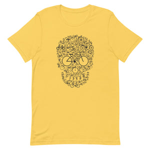 Bicycle Skull Novelty T-Shirt
