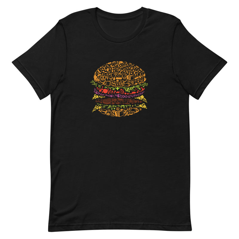 Hamburger Design Short-Sleeve Tee