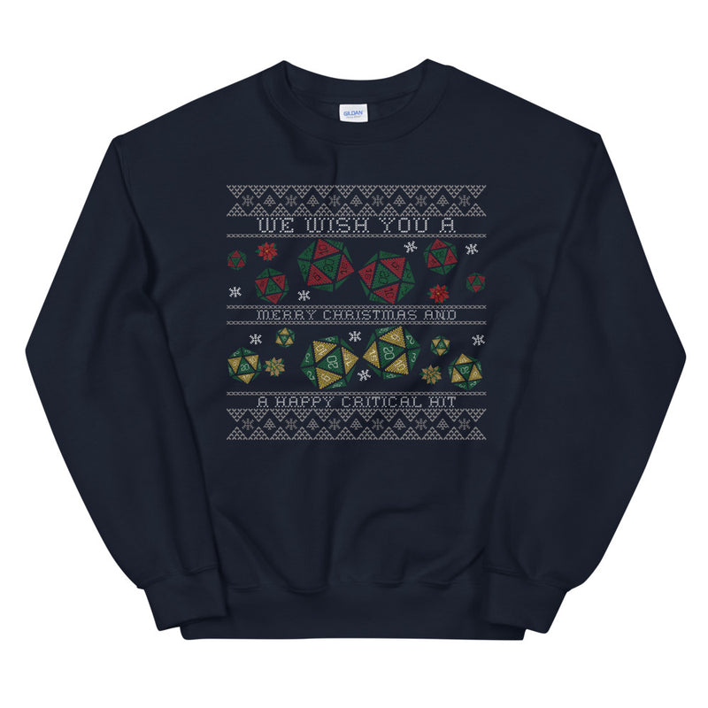 Critical Hit Ugly Sweater