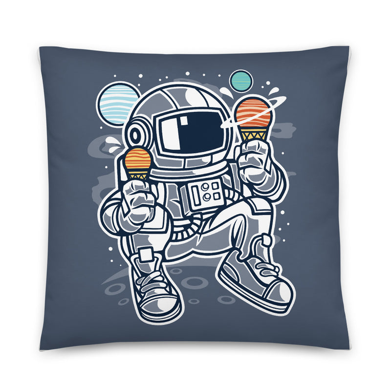 Astronaut Ice Cream Man Decorative Throw Pillow