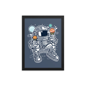 Astronaut Ice Cream Man Framed Picture
