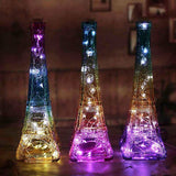 Unique Modern Handcrafted Eiffel Tower Bottle Desk Lamp Valentine Gift For him her dad housewarming  home decor table lamp love paris lights