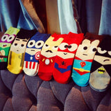 superhero ankle cotton socks fun spiderman batman ironman captain america birthday gifts for him her teens