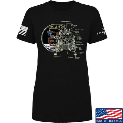IV8888 Ladies Apollo Lunar Tech T-Shirt T-Shirts SMALL / Black by Ballistic Ink - Made in America USA