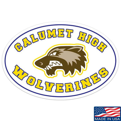 Calumet High Wolverines Sticker & Decal
