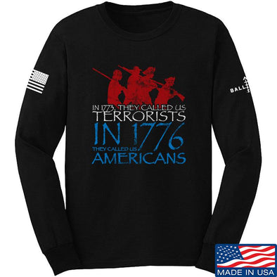 IV8888 1773 vs 1776 Long Sleeve T-Shirt Long Sleeve Small / Black by Ballistic Ink - Made in America USA