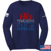 IV8888 1773 vs 1776 Long Sleeve T-Shirt Long Sleeve Small / Navy by Ballistic Ink - Made in America USA