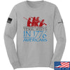 IV8888 1773 vs 1776 Long Sleeve T-Shirt Long Sleeve Small / Light Grey by Ballistic Ink - Made in America USA