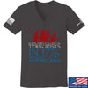 IV8888 Ladies 1773 vs 1776 V-Neck T-Shirts, V-Neck SMALL / Charcoal by Ballistic Ink - Made in America USA