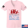 IV8888 Ladies 1773 vs 1776 V-Neck T-Shirts, V-Neck SMALL / Light Pink by Ballistic Ink - Made in America USA