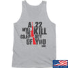 IV8888 A .22 Will Kill the Crap out of You Tank Tanks SMALL / Light Grey by Ballistic Ink - Made in America USA