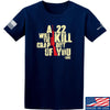 IV8888 A .22 Will Kill the Crap out of You T-Shirt T-Shirts Small / Navy by Ballistic Ink - Made in America USA