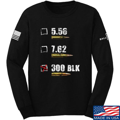 IV8888 300 BLK Long Sleeve T-Shirt Long Sleeve Small / Black by Ballistic Ink - Made in America USA