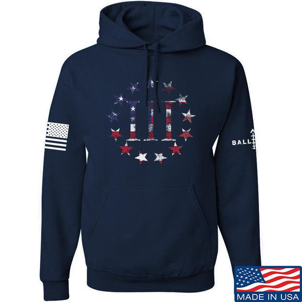 IV8888 Three Percenter Hoodie Hoodies Small / Navy by Ballistic Ink - Made in America USA