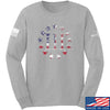 IV8888 Three Percenter Long Sleeve T-Shirt Long Sleeve Small / Light Grey by Ballistic Ink - Made in America USA